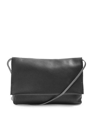 Topshop Charlie Clutch Bag-BLACK-One Size
