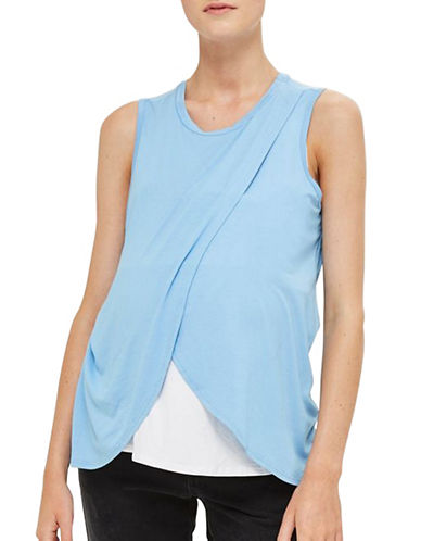 Topshop MATERNITY Drape Nursing Top-LIGHT BLUE-UK 12/US 8