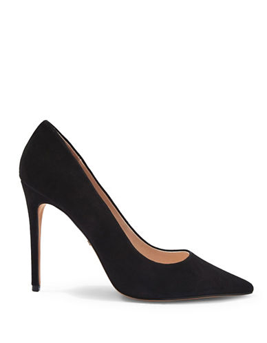 Topshop GRAMMER Suede Pointed Heels-BLACK-EU 37/US 6.5