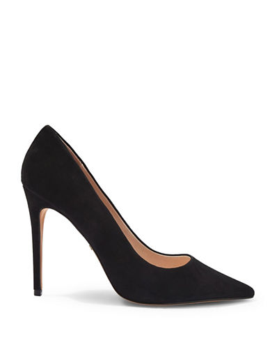 Topshop Grammer Suede Pumps-BLACK-EU 37/US 6.5