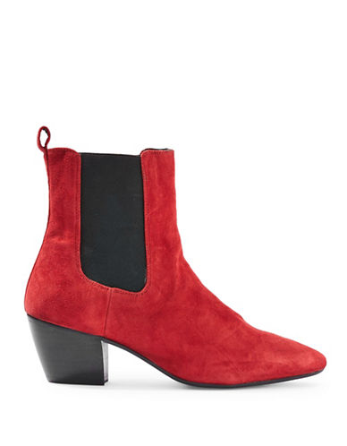 Topshop Bounty Western Boots-RED-EU 41/US 10.5
