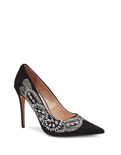 Topshop Glitz Embellished Court Shoes-BLACK-EU 38/US 7.5