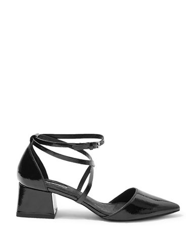Topshop Jolly Pointed Flare Shoes-BLACK-EU 38/US 7.5
