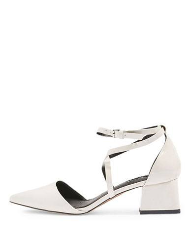 Topshop Jolly Mid-Heel Point Shoes-WHITE-EU 41/US 10.5