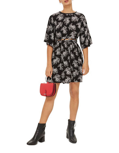 Topshop Printed Smock Dress-MONOCHROME-UK 10/US 6