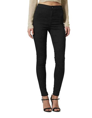 Topshop MOTO Joni Jeans 34-Inch Leg-BLACK-24X34