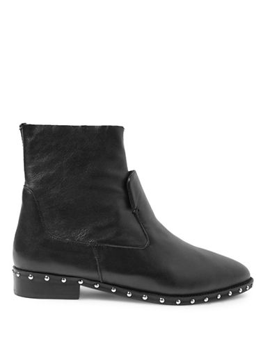 Topshop Aiden Studded Sock Boots-BLACK-EU 36/US 5.5