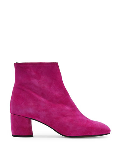 Topshop Marilo Cut-Out Suede Ankle Boots-PINK-EU 39/US 8.5