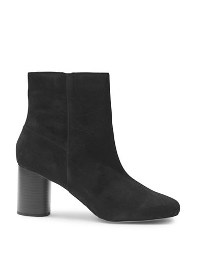 Topshop Madison Round Toe Ankle Boots-BLACK-EU 37/US 6.5
