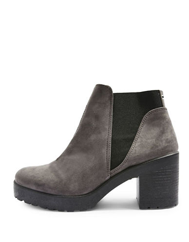 Topshop Billie Suedette Ankle Boots-GREY-EU 36/US 5.5