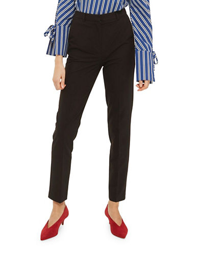 Topshop High-Rise Cigarette Trousers-BLACK-UK 8/US 4