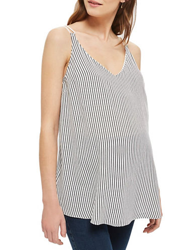 Topshop MATERNITY Stripe Swing Cami-IVORY-UK 14/US 10