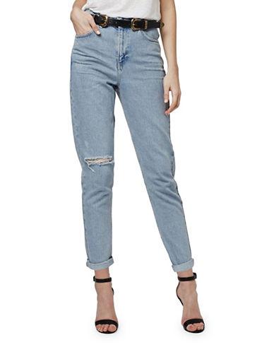 Topshop MOTO Bleach Rip Mom Jeans 30-Inch Leg-BLEACH-30X30