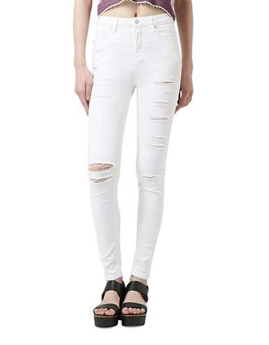 Topshop MOTO Joni Jeans 30-Inch Leg-WHITE-28X30