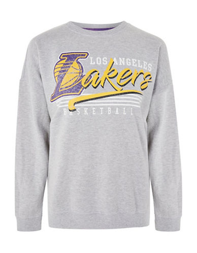 Topshop Los Angeles Lakers Sweatshirt by UNK-GREY-Small