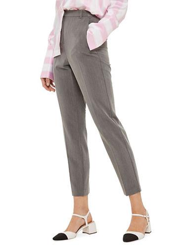 Topshop High Waist Cigarette Trousers-GREY-6 Short