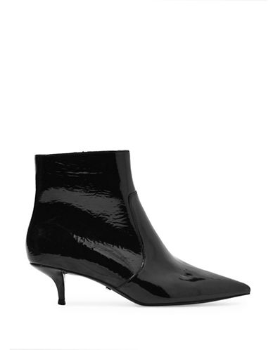 Topshop Abba Patent Ankle Boots-BLACK-EU 38/US 7.5