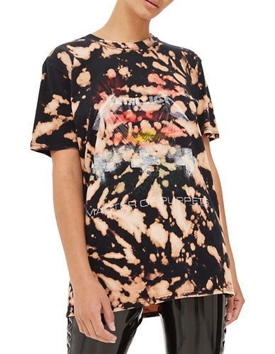 Topshop Metallica Bleach Splatter Tee by And Finally-MULTI-Medium