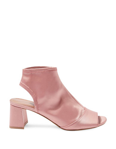 Topshop Disco Satin Sandals-PINK-EU 37/US 6.5
