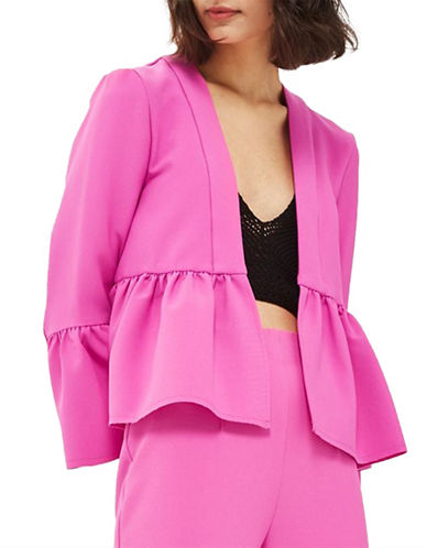 Topshop Bella Cropped Jacket-FUCHSIA-UK 10/US 6