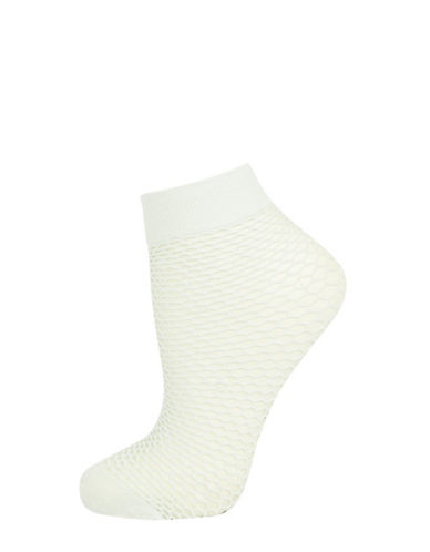 Topshop Fishnet Ankle Socks-MINT-1