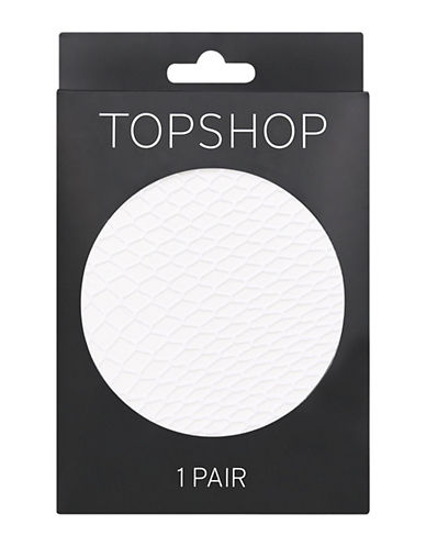 Topshop Medium Fishnet Tights-WHITE-Medium