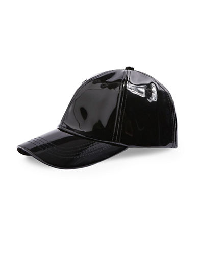 Topshop High Shine Cap-BLACK-One Size