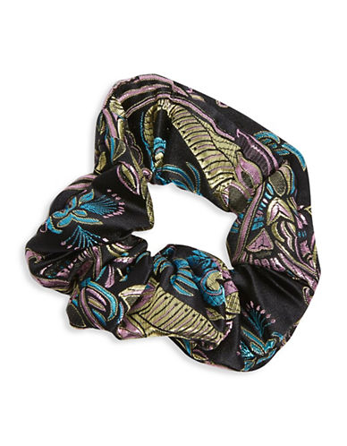 Topshop Jacquard Floral Wrap Midi Dress-BLACK-One Size