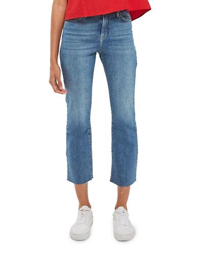 Topshop MOTO Dree Cropped Kick Flare Jeans 32-Inch Leg-MID DENIM-26X32