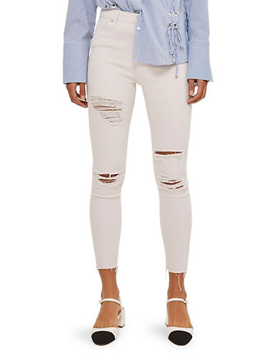 Topshop MOTO Super Ripped Jamie Jeans 30-Inch Leg-LIGHT PINK-26X30