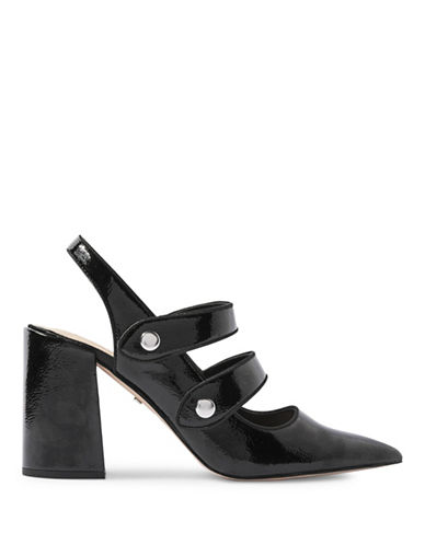 Topshop Gabriella Cross-Strap Slingback Heels-BLACK-EU 40/US 9.5