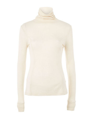 Topshop Wool-Blend Roll Neck Top by Boutique-CREAM-UK 8/US 4