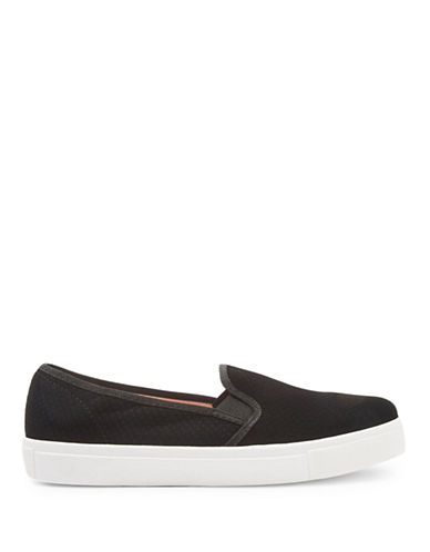Topshop Womens Tempo Slip-On Trainers-BLACK-EU 38/US 7.5