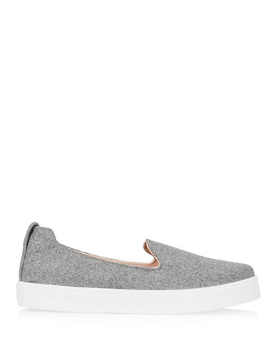 Topshop Temp Felt Slip-On Trainers-GREY-EU 41/US 10.5