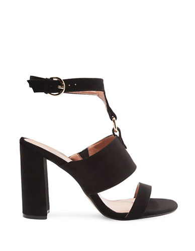 Topshop Maude Block-Heeled Sandals-BLACK-EU 38/US 7.5