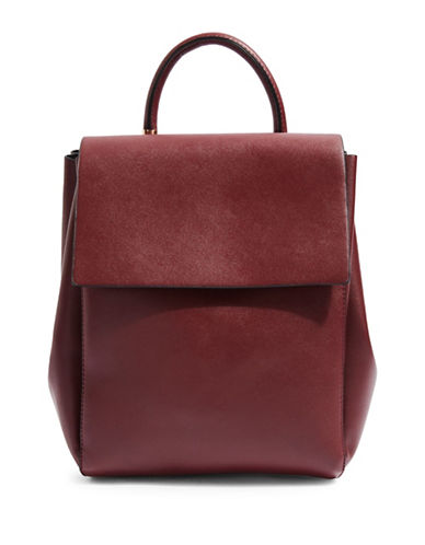 Topshop Scandi Backpack-BURGUNDY-One Size