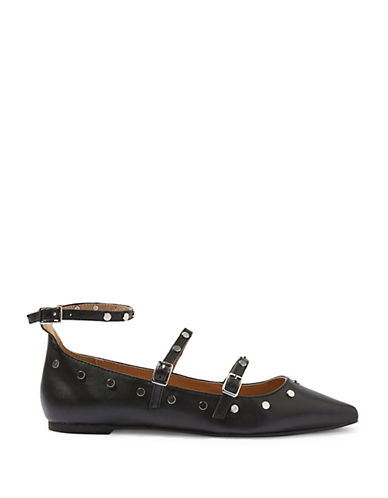 Topshop Arabelle Studded Shoes-BLACK-EU 36/US 5.5