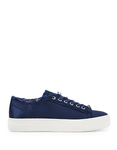 Topshop Womens CARAMEL Flatform Lace Up Trainers-NAVY BLUE-EU 39/US 8.5