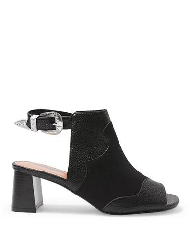 Topshop Drew Western Boots-BLACK-EU 36/US 5.5