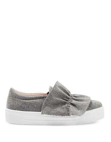 Topshop Tawny Ruffle Sneakers-GREY-EU 41/US 10.5