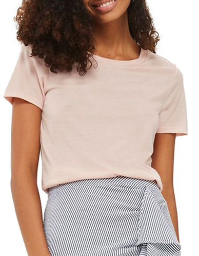 Topshop Boxy Crew Neck Tee-LIGHT PINK-UK 16/US 12