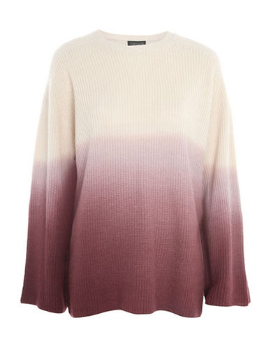 Topshop Dip-Dye Knit Sweater-BURGUNDY-UK 8/US 4