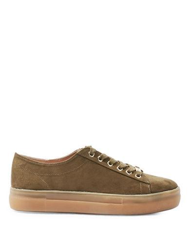 Topshop Caramel Velvet Sneakers-KHAKI-EU 40/US 9.5