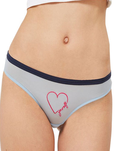Topshop Love Yourself Mesh Mini Panties-BLUE-UK 8/US 4