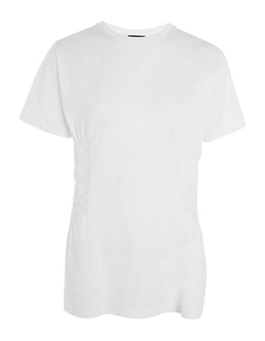 Topshop Poplin Corset Tee-WHITE-UK 12/US 8