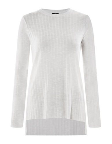 Topshop Cut-and-Sew Top-WHITE-UK 14/US 10