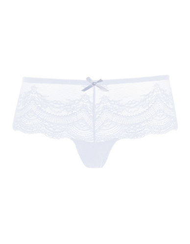 Topshop Deep Lace Panties-LIGHT BLUE-UK 12/US 8
