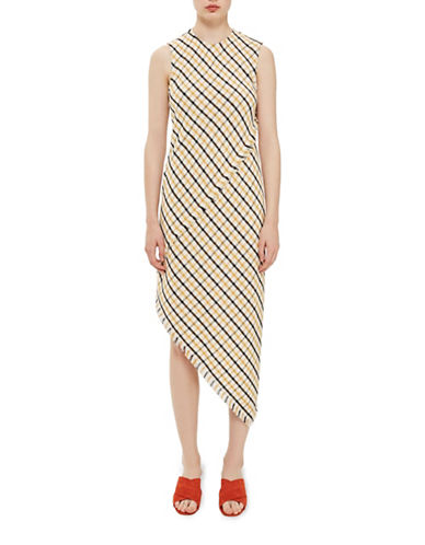 Topshop Gingham Slash Back Midi Dress by Boutique-MULTI-UK 10/US 6