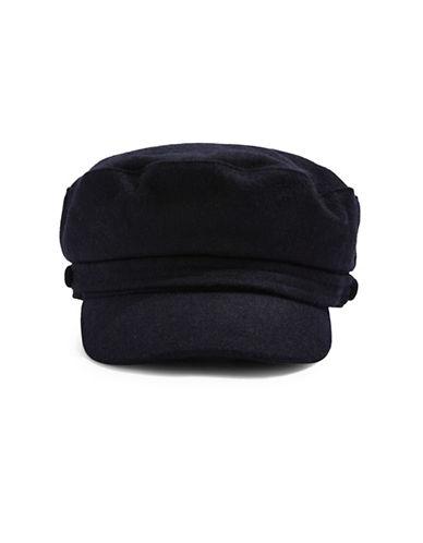 Topshop Baker Boy Hat-NAVY BLUE-One Size