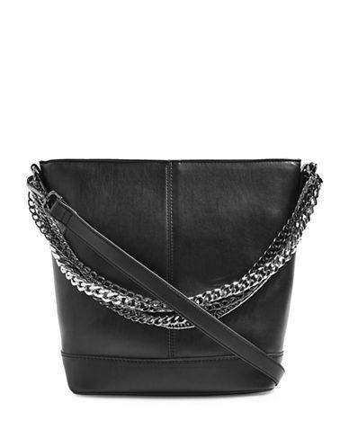Topshop Sophia Chain Bucket Bag-BLACK-One Size